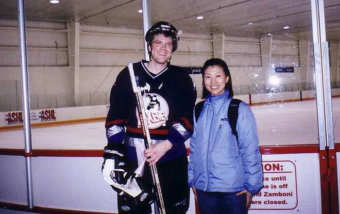 ワーキングホリデー 語学留学 バンクーバー ホッケーの選手と Kyokoさん