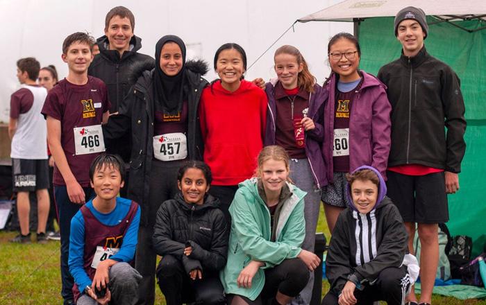 オタワ教育委員会のマラソン大会に留学生も参加