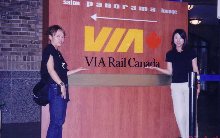ワーキングホリデー 語学留学 バンクーバー 親友のRinaさんと鉄道の旅 Kyokoさん