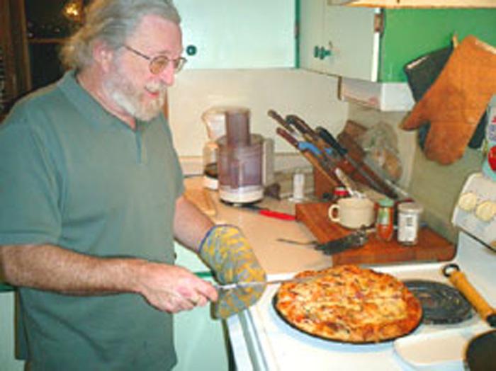 ファームステイ ピザを作るロブ Tomomiさん