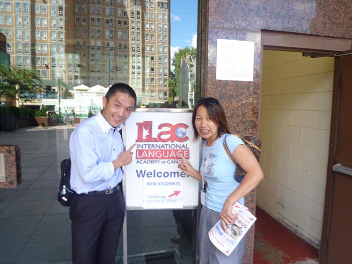 ILAC トロントキャンパスにてミホさんと