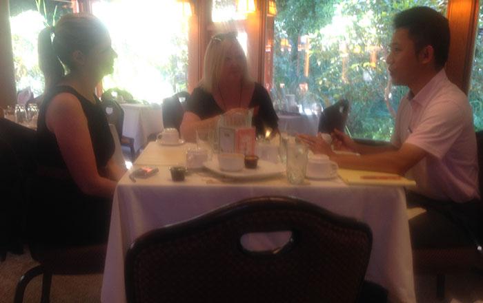 UvicのChrisさんとMarlowさんと食事