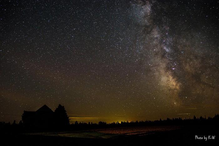 ヘレンさん宅から見える星空