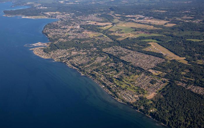クオリカムビーチの航空写真