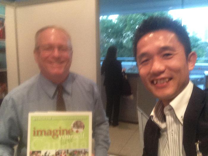 クオリカム教育委員会のRossさんとカナダ大使館フェアで