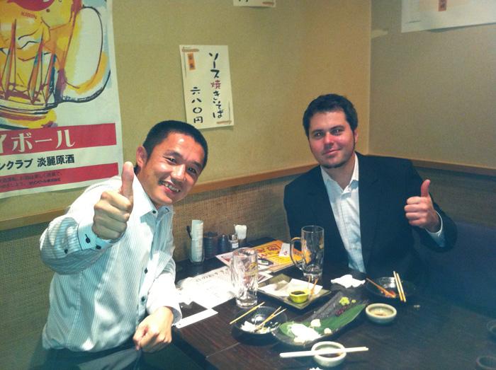 Jeffさんと日本の居酒屋で