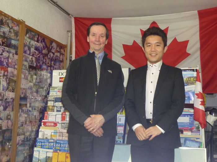 ピュアカナダ留学センターを訪問してくれたブレントさんと