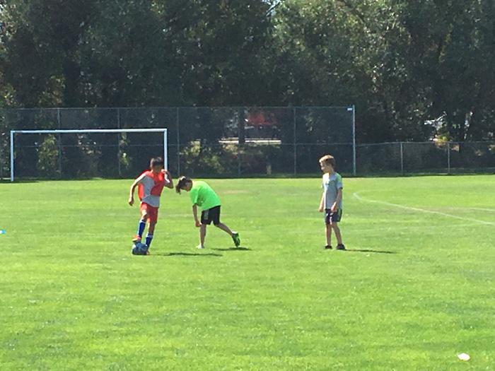IGKサッカーキャンプの息子