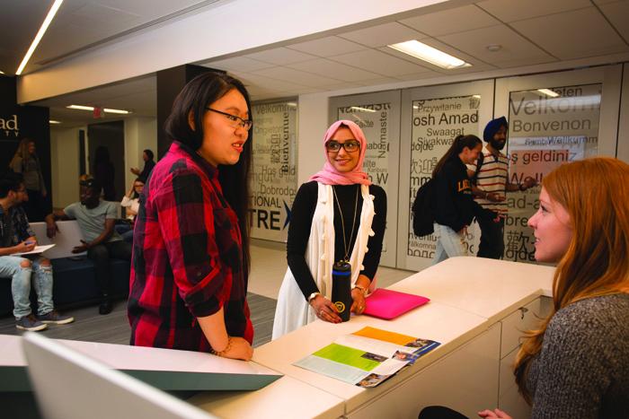 レイクヘッド大学の留学生サポートデスク